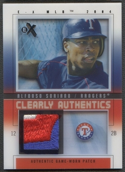 2004 E-X #AS Alfonso Soriano Clearly Authentics Black Patch #19/75
