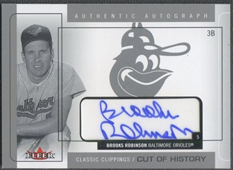 2005 Classic Clippings #BR Brooks Robinson Cut of History Silver Auto #19/25