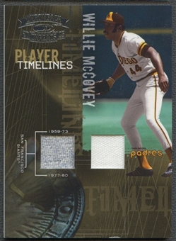2005 Throwback Threads #19 Willie McCovey Player Timelines Material Jersey #05/50