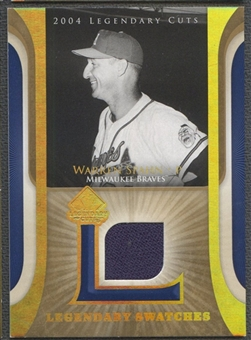 2004 SP Legendary Cuts #WS Warren Spahn Legendary Swatches Jersey