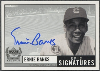1999 Upper Deck Century Legends #EB Ernie Banks Epic Signatures Century Auto