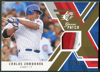 2009 Upper Deck SPx Game Patch #GJCZ Carlos Zambrano /99