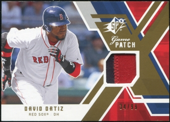 2009 Upper Deck SPx Game Patch #GJDO David Ortiz 34/99