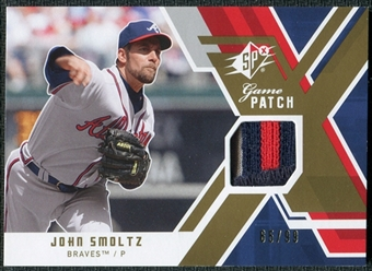 2009 Upper Deck SPx Game Patch #GJJS John Smoltz /99