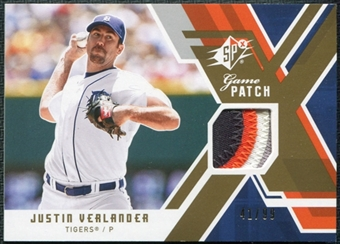 2009 Upper Deck SPx Game Patch #GJJV Justin Verlander /99