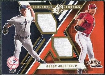 2009 Upper Deck SPx Flashback Fabrics #FFRJ Randy Johnson Pants