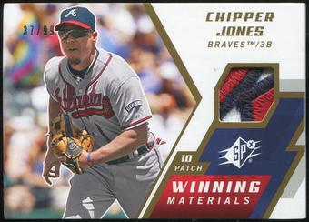2009 Upper Deck SPx Winning Materials Patch #WMCJ Chipper Jones 37/99