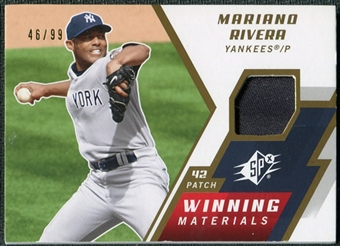 2009 Upper Deck SPx Winning Materials Patch #WMMR Mariano Rivera /99