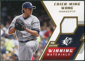 2009 Upper Deck SPx Winning Materials #WMCW Chien-Ming Wang