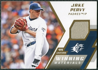2009 Upper Deck SPx Winning Materials #WMJP Jake Peavy