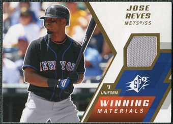 2009 Upper Deck SPx Winning Materials #WMJR Jose Reyes