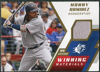 2009 Upper Deck SPx Winning Materials #WMRA Manny Ramirez