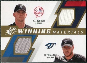 2009 Upper Deck SPx Winning Materials Dual #BH A.J. Burnett Roy Halladay