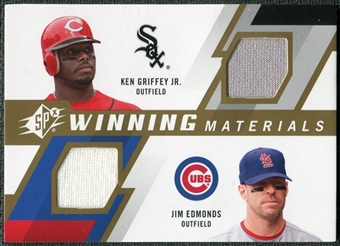 2009 Upper Deck SPx Winning Materials Dual #GE Ken Griffey Jr. Jim Edmonds