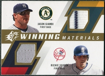 2009 Upper Deck SPx Winning Materials Dual #GS Richie Sexson Jason Giambi