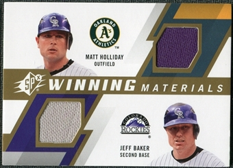 2009 Upper Deck SPx Winning Materials Dual #HB Jeff Baker Matt Holliday