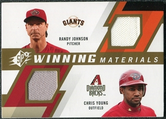 2009 Upper Deck SPx Winning Materials Dual #JY Randy Johnson Chris B. Young