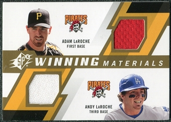 2009 Upper Deck SPx Winning Materials Dual #LL Adam LaRoche Andy LaRoche