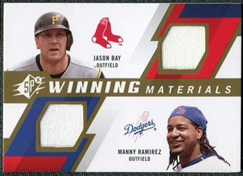 2009 Upper Deck SPx Winning Materials Dual #RB Jason Bay Manny Ramirez