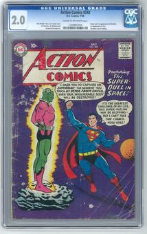 Action Comics #242 CGC 2.0 (C-OW) *1349892004*