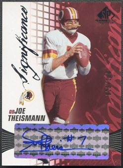 2004 SP Game Used Edition #JT Joe Theismann SIGnificance Auto #022/100