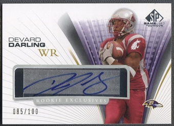 2004 SP Game Used Edition #REDD Devard Darling Rookie Exclusives Auto #085/100