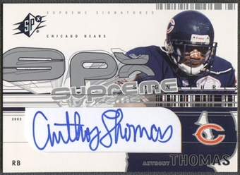 2002 SPx #SSAT Anthony Thomas Supreme Signatures Auto
