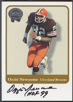 2001 Fleer Greats of the Game Ozzie Newsome Auto