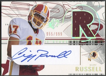 2002 SPx #161 Cliff Russell Rookie Jersey Auto #955/999