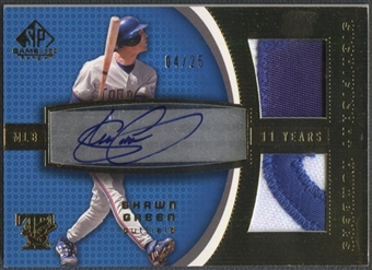 2004 SP Game Used Patch #SG1 Shawn Green Significant Numbers Auto Dual Patch #04/25