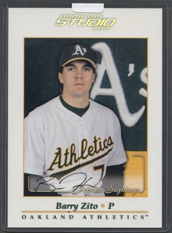 2001 Studio #48 Barry Zito Private Signings 5 x 7 Auto