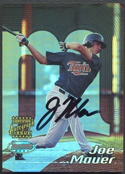 2002 Bowman's Best #110 Joe Mauer Rookie Auto