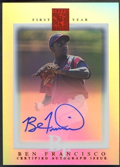 2003 Topps Tribute Contemporary #110 Ben Francisco Red Rookie Auto #03/99