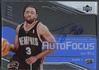 2003/04 UD Glass #TB Troy Bell Auto Focus Auto