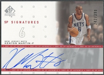 2001/02 SP Authentic #KM Kenyon Martin Signatures Auto #242/390