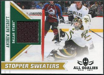 2010/11 Panini All Goalies Stopper Sweaters #15 Andrew Raycroft