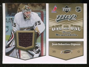 2007/08 Upper Deck One on One Jerseys #OOGC Jean-Sebastien Giguere/Dan Cloutier