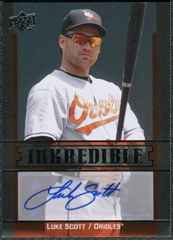 2009 Upper Deck Inkredible #LS Luke Scott Autograph