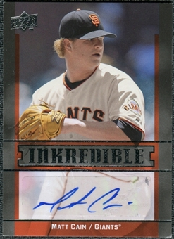 2009 Upper Deck Inkredible #MC Matt Cain Autograph