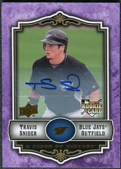 2009 Upper Deck UD A Piece of History Rookie Autographs Violet #134 Travis Snider RC
