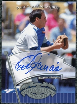 2005 Upper Deck UD Past Time Pennants Signatures Silver #SC Mike Scioscia T3 Autograph SP