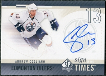 2010/11 Upper Deck SP Authentic Sign of the Times #SOTAC Andrew Cogliano Autograph