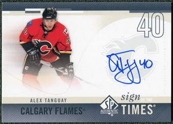 2010/11 Upper Deck SP Authentic Sign of the Times #SOTAT Alex Tanguay Autograph