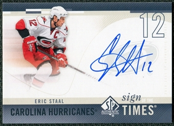 2010/11 Upper Deck SP Authentic Sign of the Times #SOTES Eric Staal Autograph