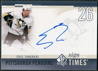 2010/11 Upper Deck SP Authentic Sign of the Times #SOTET Eric Tangradi Autograph