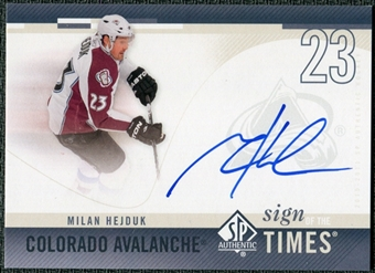 2010/11 Upper Deck SP Authentic Sign of the Times #SOTHE Milan Hejduk Autograph