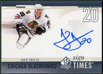 2010/11 Upper Deck SP Authentic Sign of the Times #SOTJS Jack Skille Autograph