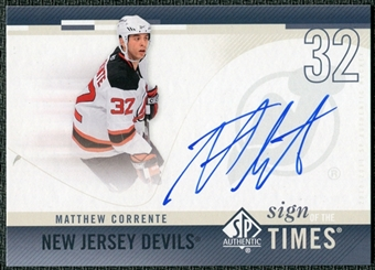 2010/11 Upper Deck SP Authentic Sign of the Times #SOTMC Matthew Corrente Autograph