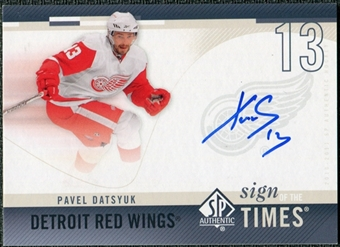 2010/11 Upper Deck SP Authentic Sign of the Times #SOTPD Pavel Datsyuk Autograph