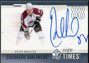 2010/11 Upper Deck SP Authentic Sign of the Times #SOTPM Peter Mueller Autograph